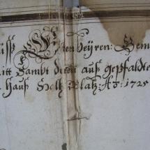 Papier vor der Restaurierung